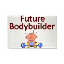 Future Bodybuilder Rectangle Magnet