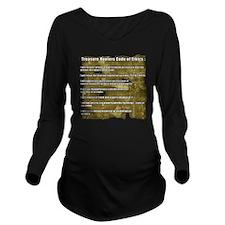 Treasure Hunter Code Long Sleeve Maternity T-Shirt