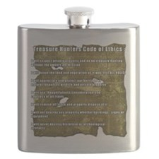 Treasure Hunter Code of Ethics Flask