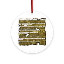 Treasure Hunter Code of Ethics Round Ornament