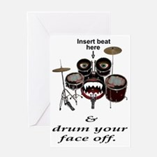 Drumface Greeting Card