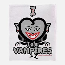 I Love Lady Vampires Throw Blanket