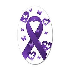 Purple Awareness Ribbon Wall Decal