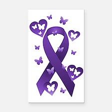 Purple Awareness Ribbon Rectangle Car Magnet