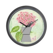 pest and mort hydrangea 2 Wall Clock