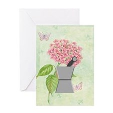 pest and mort hydrangea 2 Greeting Card