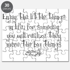 Enjoy the little things in Life Puzzle