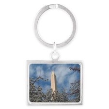Washington Monument Landscape Keychain