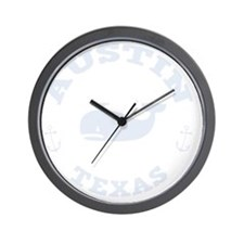 souv-whale-austin-DKT Wall Clock