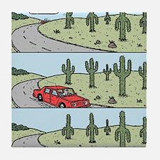 Cacti arms Tile Coaster