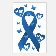 Blue Awareness Ribbon Postcards (Package of 8)