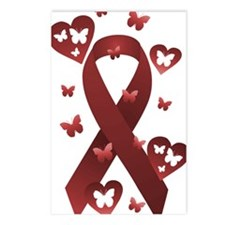 Red Awareness Ribbon Postcards (Package of 8)