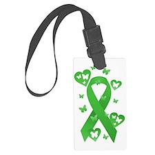 Green Awareness Ribbon Luggage Tag