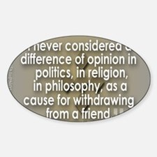 A difference of opinion... Sticker (Oval)