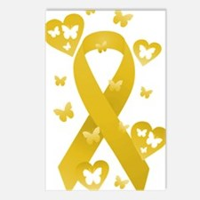 Yellow Awarness Ribbon Postcards (Package of 8)