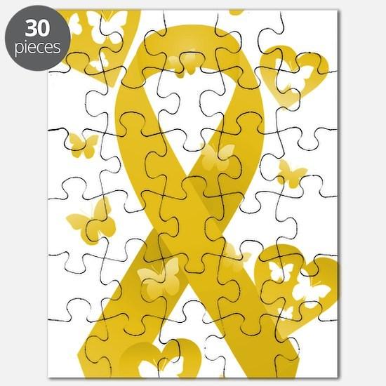 Yellow Awarness Ribbon Puzzle