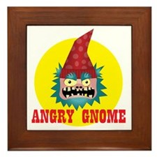 Angry Gnome 02 Framed Tile