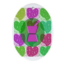 pharmd 2 Oval Ornament