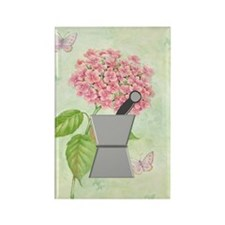 pest and mort hydrangea 2 Rectangle Magnet