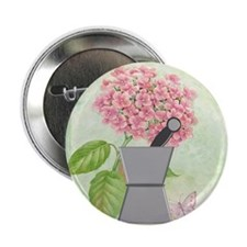 """pest and mort hydrangea 2 2.25"""" Button"""
