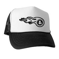 transparent image in black Trucker Hat