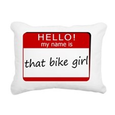 That Bike Girl Rectangular Canvas Pillow