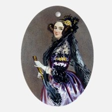 Ada King, Countess of Lovelace Water Oval Ornament