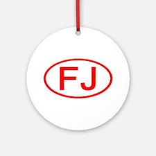 FJ Oval (Red) Ornament (Round)