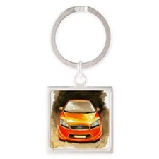 Ford ST by Aleczandra Lee© Square Keychain