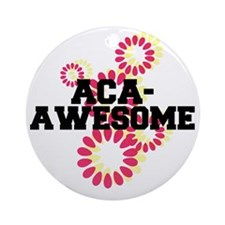 Pitch Perfect Aca Awesome Round Ornament