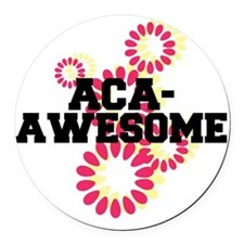 Pitch Perfect Aca Awesome Round Car Magnet