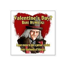 "Valentines Day Square Sticker 3"" x 3"""