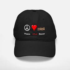 Peace Love Bacon Baseball Hat