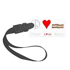 Peace Love Bacon Luggage Tag