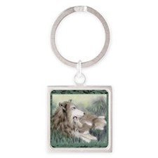 wolfmotherTL Square Keychain