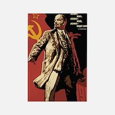 Soviet vintage Propaganda Rectangle Magnet