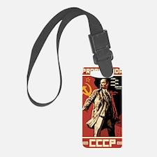 Soviet vintage Propaganda Luggage Tag