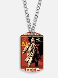 Soviet vintage Propaganda Dog Tags
