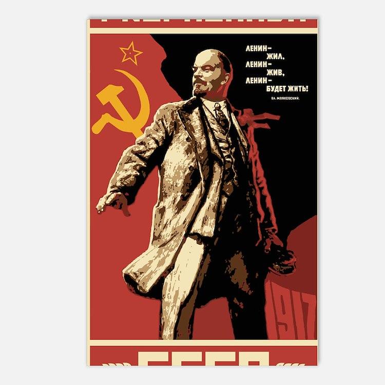 Soviet vintage Propaganda Postcards (Package of 8)
