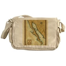 Baja Map Messenger Bag