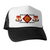 45th infantry 157th regiment Trucker Hats