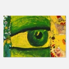 Golden Emerald Eye from C Postcards (Package of 8)