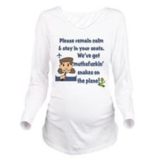 remain calm.png Long Sleeve Maternity T-Shirt