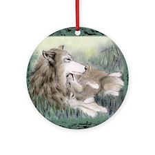 wolfmotherT Round Ornament
