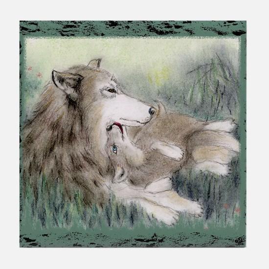wolfmotherT Tile Coaster