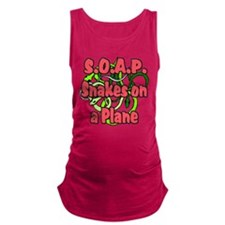 soap with snakes blue.png Maternity Tank Top