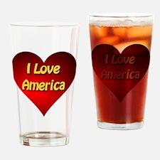 I Love America Drinking Glass