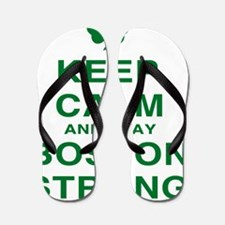 Keep Calm and Boston Strong Flip Flops