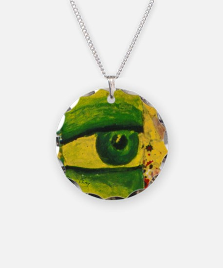 Golden Emerald Eye from Conu Necklace