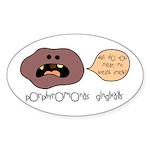 Bad Breath Oval Sticker